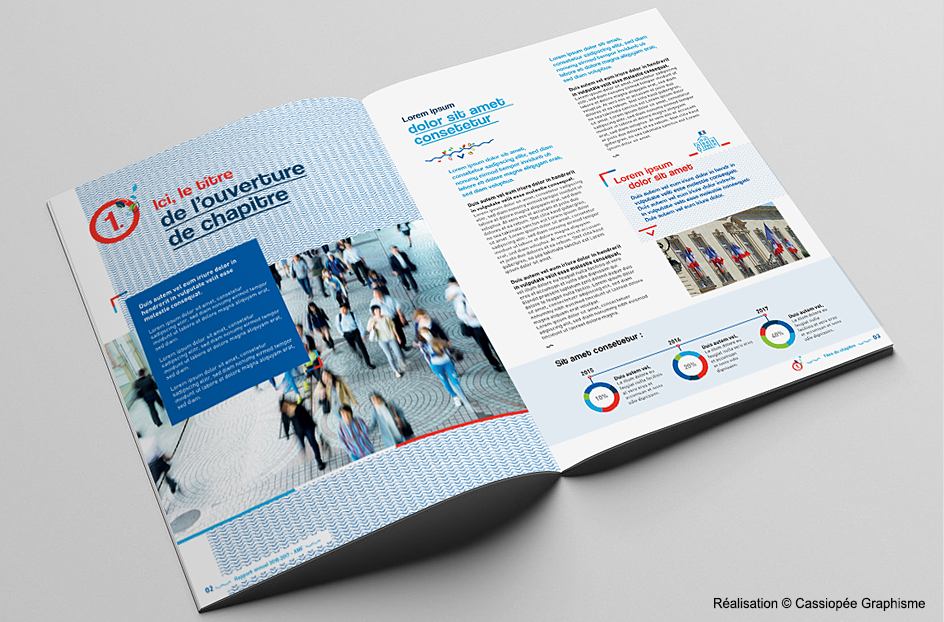 Conception graphique de la brochure rapport annuel